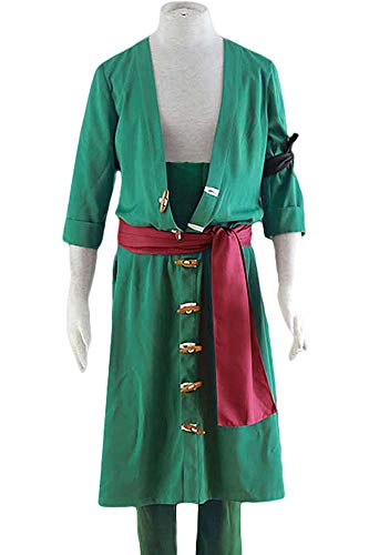 Cosplay Roronoa Zoro Kostüm - Karnestore One Piece Roronoa Zoro Two Years Later Outfit Cosplay Kostüm Herren XXL
