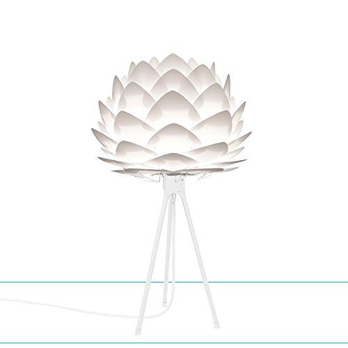 Umage/VITA Silvia mini Lampenschirm weiss für A++ bis E D 34 cm inkl. Tripod weiss H 36 cm Lampe Vita-mini