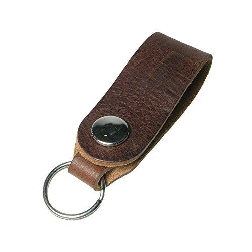 Creative auténtica mano de piel Colorido llaves llavero fabricado en Reino Unido, Cuero, marrón