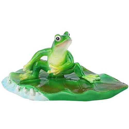 Künstliche Schwimmende Frosch Wasser Blume Amimal Teich Home Party Dekoration Urlaub Schwimmbad Tier Badewanne Garten Dekor Figur Brunnen Ornament Blatt Rasenfläche (Linke Brandung Kleiner Frosch) -
