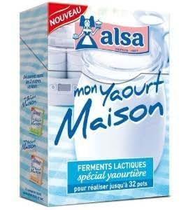 Alsa - yaourtière - mon yaourt maison - ferments lactiques spécial yaourtière