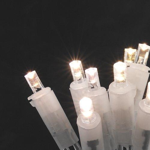 Konstsmide 5300-103 - Guirnalda de bombillas LED (50 diodos blancos, 230 V, para interior, cable transparente)