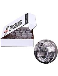 niceEshop(TM) Kit de 50 Pcs 5 Grammes Pot Vide Cosmétique en Plastique pour Gel et Crème de Maquillage (Transparent)
