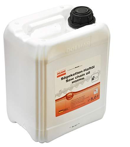 DOLMAR Kettensägenöl Haftöl PLUS Kettenöl Sägekettenöl Kettensäge Motorsäge (5,0 Ltr) 988002356
