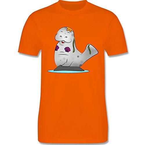 Sonstige Tiere - Meerjung-Seekuh - Herren Premium T-Shirt Orange