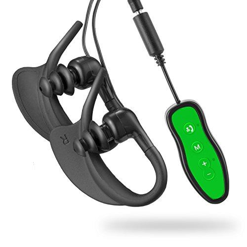 Bluetooth Reproductor de MP3,Adaptador de audio inalámbrico de transmisión de audio y clip de deporte impermeable de 8 GB Reproductor de música de sonido de alta fidelidad con auricular impermeable Receptor Bluetooth portátil con llamada manos libres(296P Verde)