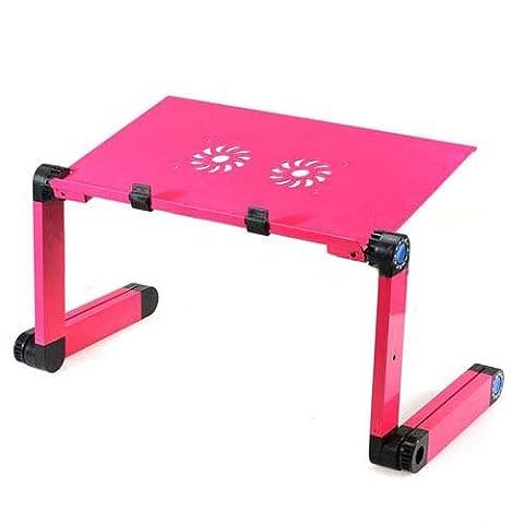 Table d'ordinateur - SODIAL (R)Portable PC portable Ordinateur portable Table Bureau lit canape Plateau pliable (Rose