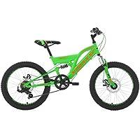 KS Cycling bambini bicicletta Mountain Bike Fully xtraxx RH 30cm, verde, 20arancione