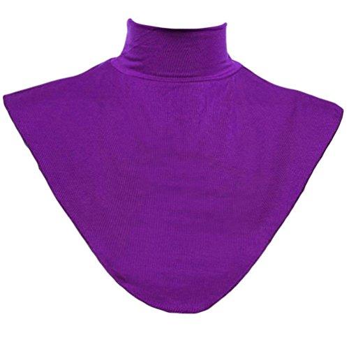 Kette Hals Halfter (Auspicious Beginning Frauen-Soft-Modal Islamisches Hemd Unterhos Hijab Halsschulter Abdeckung)