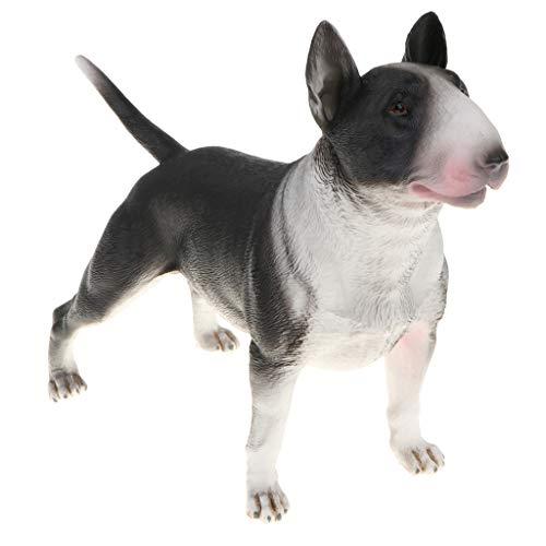 B Blesiya Mini Bulldogge Dekofigur Gartenfigur Hund Modell Tierfigur ALS Geschenk, aus Plastik