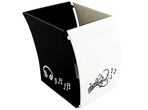 multifunzione Koowaa porta pennelli da trucco bianco esagonale 12 * 11 * 5.5 da scrivania Portapenne a 3 scomparti