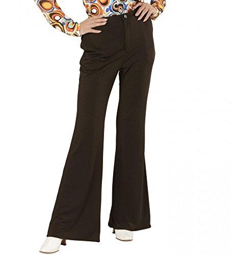 70er Jahre Retro HOSE in diversen Farben Disco Damen Kostüm Schlaghose Siebziger, (Kostüm Disco Hose)