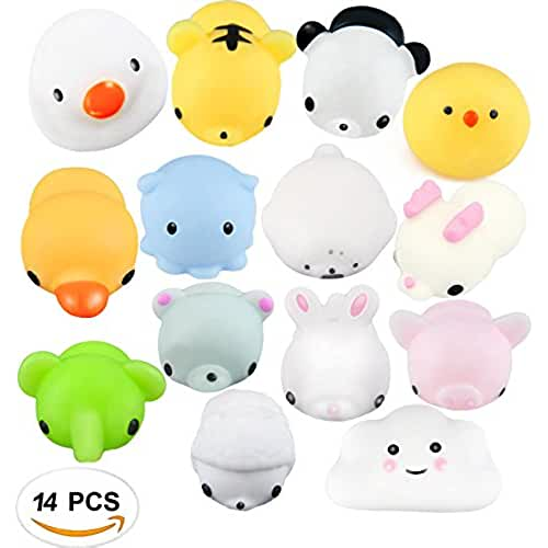 mini kawaii miniaturas kawaii Squishy Animales, Kawaii Squishies, Mini Squishies Animal Juguetes para Estrés Relevista Regalo Decoración (10 PCS) (14 PCS)