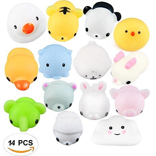 Soft Squishy Toys Squishy Cat Squishy Kawaii Mignon Slow Rising Animal Hand Toy Jouet Squeeze Soft (couleur aléatoire) (14 PCS)
