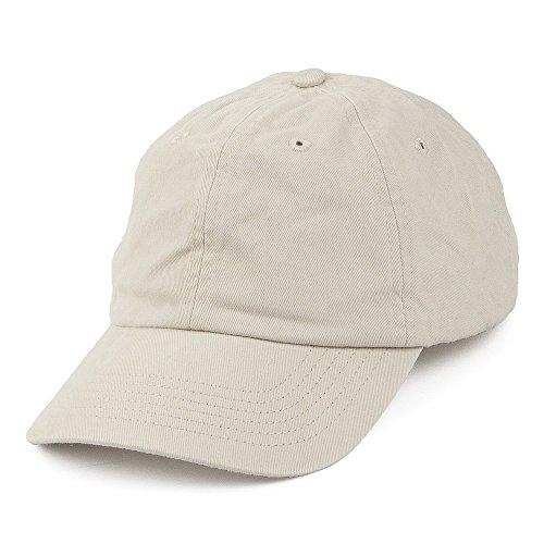 Village Hats Casquette en Coton Délavé Beige - Ajustable