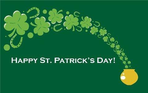 Happy St Patricks Day Pot Of Gold Flagge-Große 5x 3'- Saint Patrick Irland flagsuperstore© (St Patricks Day Pot Of Gold)