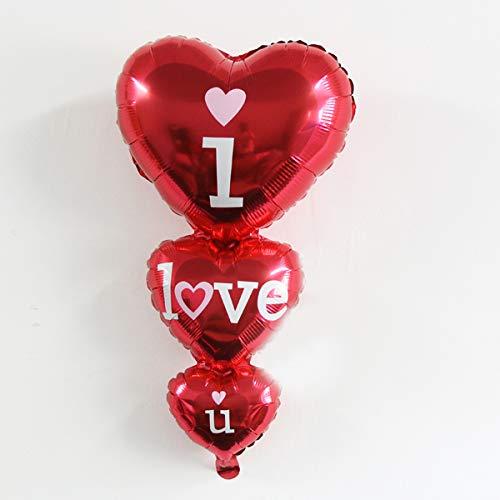 DioKlen - 1PC 96 * 50CM großes Romantisches Herz Ich Liebe Dir Ballon-Folien-Ballone für Hochzeit/Geburtstags-Party-Dekorationen Kindergeschenke