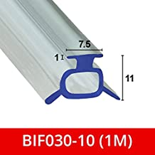 Suave sello de goma flexible para mampara de ducha, para puertas plegables, se adapta a un canal de 7 o 8 mm BIF030