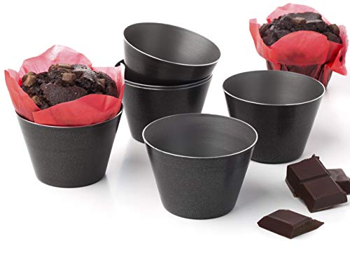 Dariole Moulds Nonstick Tins Puddings Muffin ramekins Pans Souffle Pot Pie Brownies - Set of 6