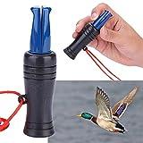 YGQersh Herramienta de Caza de Caza Llamada de Pato Silbato Mallard Faisán Llamador Al Aire Libre - Negro + Azul