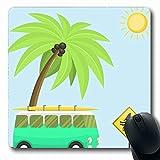 Alfombrillas de ratón para ordenadores Naturaleza Autocaravanas Vacaciones Viajes Coche Verano Turismo Aventura Automóvil Autobús Campamento Camping Caravana Antideslizante Oblong Gaming Mouse Pad