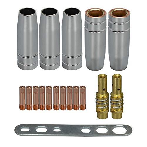 RIVERWELD MB15 15AK Pointe de contact 0.9mm M6 & Porte-embouts de support pour difuser et coupe de protection pour torche de soudage MB15 15AK MIG 18pk