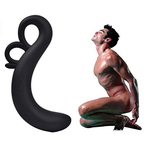 Sisit Le point G imperméable de silicone stimulent les jouets manuels anaux de masseur de prostate (Modèle A)
