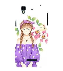 Gorgeous Girl with Hat 3D Hard Polycarbonate Designer Back Case Cover for YU Yureka :: YU Yureka AO5510