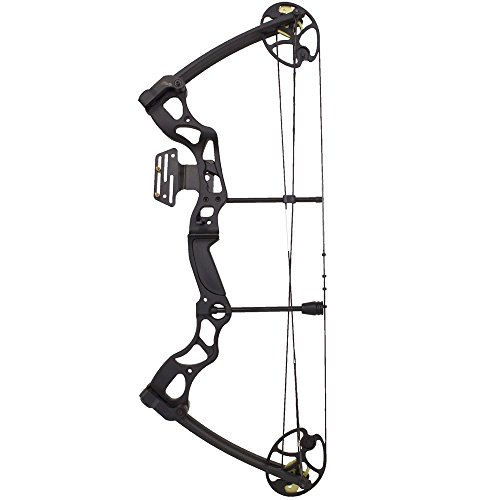 """Verstellbarer Compound-Bogen Hellbow 26-30 """"/ 50-70 LBS, schwarze Farbe, für Rechtshänder, er besitzt ein Visier mit 2 Stiften"""