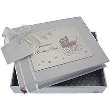 White Cotton Cards Inscription Grandma's Boasting Book Album de petite taille (Silver Landau et fanions)