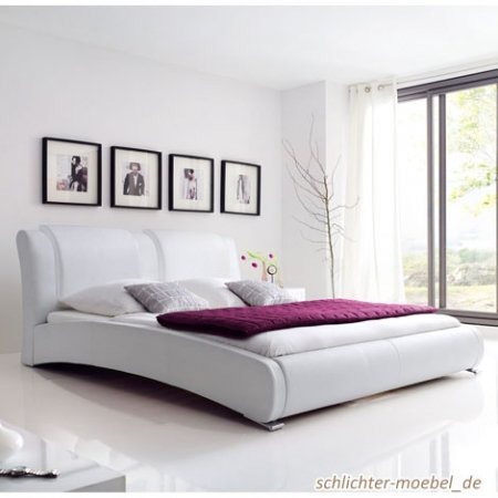 "Celine Polsterbett Royal"" (140 x 200 cm, Weiß)"