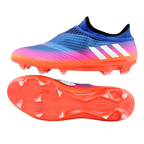 adidas Herren Messi 16+ Pureagility FG Fußballschuhe, Blau Footwear White/Solar Orange Blue, 45 1/3 EU (Orange Und White Football Cleats)