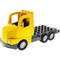 Preisvergleich für Bausteine gebraucht 1 x Lego Duplo LKW gelb grau Apschlepp Wagen Chassis Laster Auto Lastwagen Post 87700c01