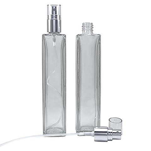 Lot de 12 bouteilles vides claires de parfum en verre réutilisables vaporisateurs de parfum de l'huile essentielle d'aromathérapie gros pulvérisateur de 100 ml d'argent de la