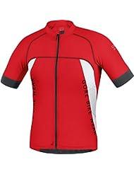 GORE BIKE WEAR Maillot MTB para hombre, Ajustado, Ultra Ligero, GORE Selected Fabrics, ALP-X PRO, Talla XL, Rojo/Blanco, SPRALP350106