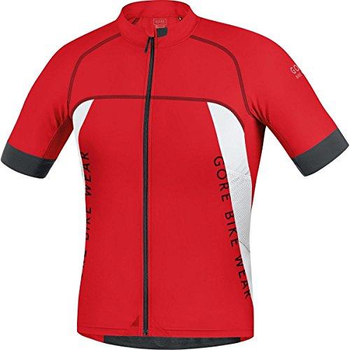 GORE BIKE WEAR Maillot MTB, Ajustado, Ultra Ligero, GORE Selected Fabrics, ALP-X PRO, Talla M, Rojo/Blanco, SPRALP350104