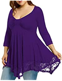 54f67266a5558 FAMILIZO Camisetas Mujer Tallas Grandes Camisetas Mujer Verano Tops Mujer  Primavera Camisetas Mujer Largas Camisetas Mujer