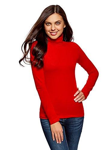 oodji Ultra Damen Langarmshirt Basic mit Rollkragen (2er-Pack), Mehrfarbig, DE 36/EU 38/S (Rollkragen-shirt)