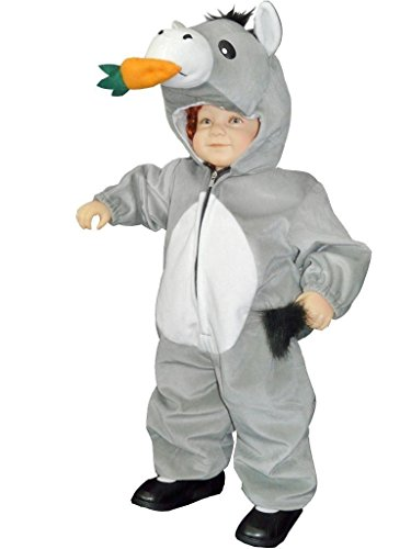 J43/00 Gr. 86-92 Esel Kostüm für Fasching und Karneval, Kostüme für Baby Babies Kleinkinder, Faschingskostüm, Karnevalkostüm