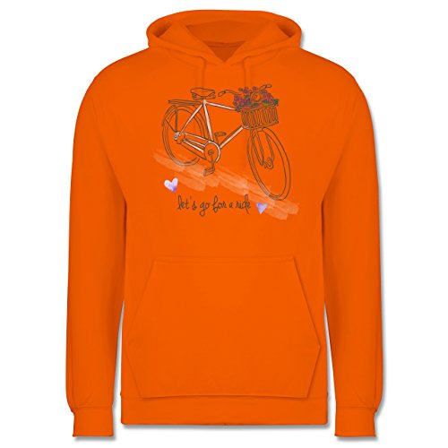 Vintage - Vintage Bike Go for a ride - Männer Premium Kapuzenpullover / Hoodie Orange
