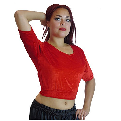 3a114e4bcc Dancers World Elegant Sleeved Tribal Belly Dance Choli Costume Top UK  12 14-24