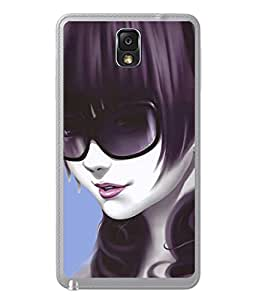 PrintVisa Designer Back Case Cover for Samsung Galaxy Note 3 (girly style with naughty look)