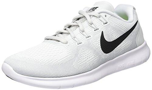 Nike Damen Free RN 2 Laufschuhe, Weiß (White-Black-Pure Platinum), 38.5 EU (Schuhe Weiß Nike)