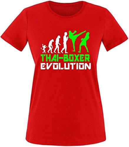 EZYshirt® Thai Boxing Evolution Damen Rundhals T-Shirt