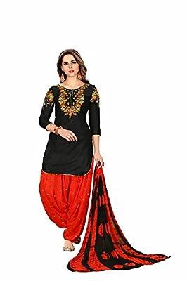 Capri Creation punjabi patiyala suits for women | patiyala suits material | patiyala suits combo | patiyala suits design (1191_Black_Unstiched)