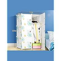 Singola Doppia plastica ABS semplice piega Combinazione armadio semplice combinazione guardaroba moderno Assemblea armadio in resina Protezione Ambientale ( colore : B , dimensioni : 76*47*111cm )