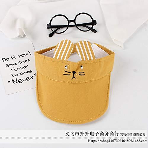 Riddler Kostüm Baby - Jungen und Mädchen Sonnenschutz Hut männlich Baby kein Top Baseball Cap Kinder Gitter Sonnenschirm Hut gelb gelb 48-50cm