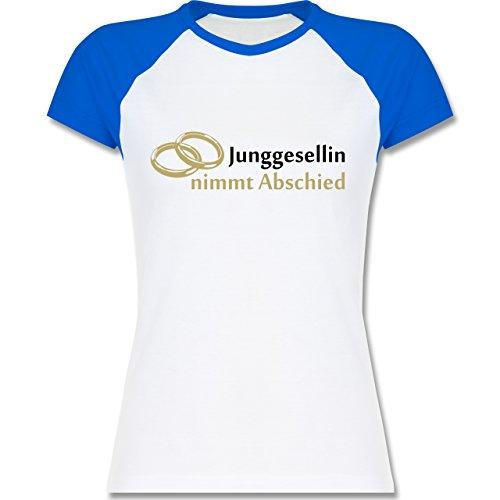 JGA Junggesellinnenabschied - Junggesellin nimmt Abschied - zweifarbiges  Baseballshirt / Raglan T-Shirt für Damen