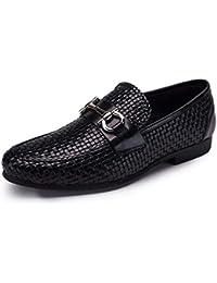 5ea47a4628a FLYSXP Chaussures De Travail pour Hommes Classiques en Cuir Tressé Trend  Chaussures Habillées Pointues Respirantes Porter