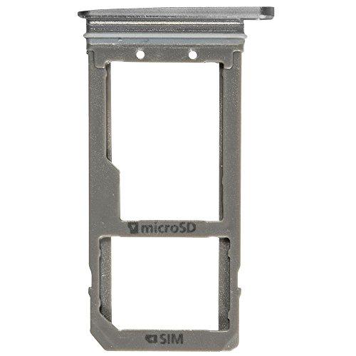 und SD Halter black / schwarz für Samsung G930F Galaxy S7 (Sim SD Holder, Tray) - GH98-39260A ()